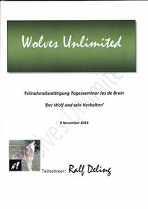 Zertifkat Der Wolf und sein Verhalten